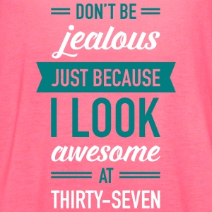 Awesome At Thirty-Seven Tanks - Women's Flowy Tank Top by Bella