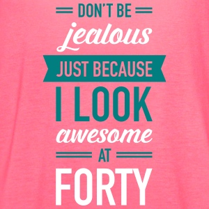 Awesome At Forty Tanks - Women's Flowy Tank Top by Bella