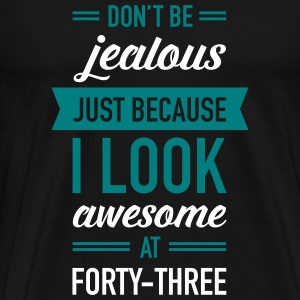 Awesome At Forty-Three T-Shirts - Men's Premium T-Shirt