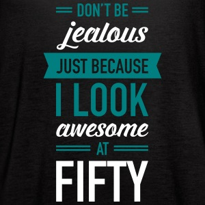 Awesome At Fifty Tanks - Women's Flowy Tank Top by Bella