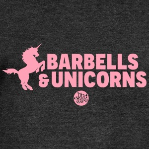 Barbells and Unicorns Long Sleeve Shirts - Women's Wideneck Sweatshirt