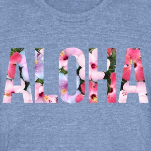AD Aloha T-Shirts - Unisex Tri-Blend T-Shirt by American Apparel