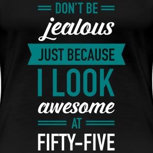Awesome At Fifty-Five Women's T-Shirts - Women's Premium T-Shirt