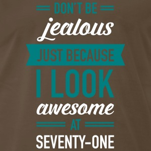 Awesome At Seventy-One T-Shirts - Men's Premium T-Shirt