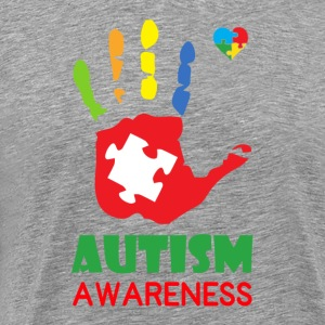Autism Awareness Hand Color T-Shirts - Men's Premium T-Shirt
