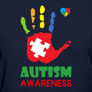 Autism Awareness Hand Color Women's T-Shirts - Women's T-Shirt