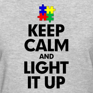 Autism Keep Calm and Light It Up Women's T-Shirts - Women's T-Shirt