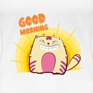 Good Morning Kitty T-Shirt For Women - Women's Premium T-Shirt