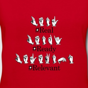 #Real #Ready #AmericanSignLanguage - Women's V-Neck T-Shirt