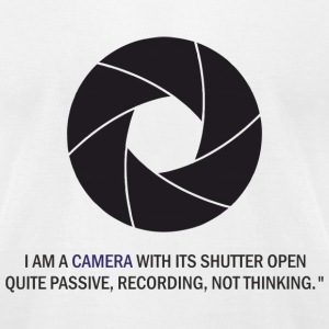 I am a camera, shutter - Men's T-Shirt by American Apparel