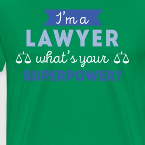 Lawyer Superpower Professions Attorney T Shirt T-Shirts - Men's Premium T-Shirt