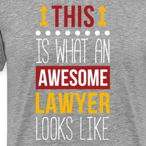 Awesome Lawyer Professions Attorney T Shirt T-Shirts - Men's Premium T-Shirt