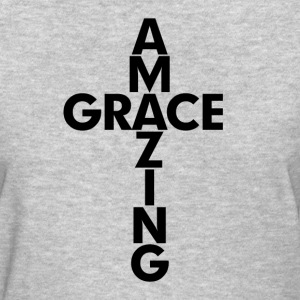 Amazing Grace Cross Christian Women's T-Shirts - Women's T-Shirt