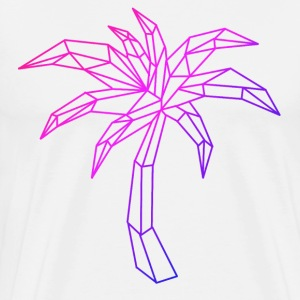 Neon palm tree - Men's Premium T-Shirt