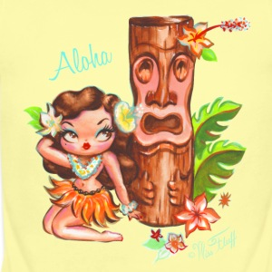 Hula Babydoll with Tiki Baby Bodysuits - Short Sleeve Baby Bodysuit