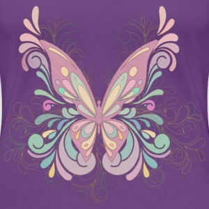 Colorful Butterfly Art - Women's Premium T-Shirt
