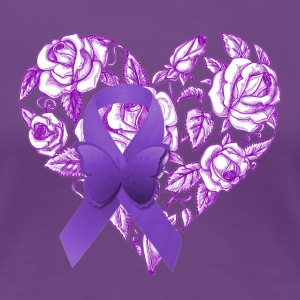 Purple Awareness Ribbon - Women's Premium T-Shirt