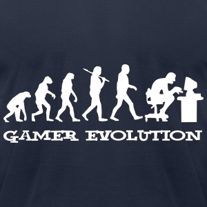 Gamer Evolution T-Shirts - Men's T-Shirt by American Apparel