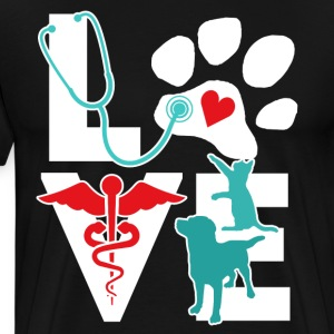 Veterinarian Love Cat and Dog Veterinary T Shirt T-Shirts - Men's Premium T-Shirt