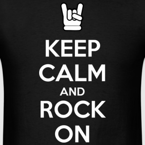 Keep Calm and Rock On (dark) T-Shirts - Men's T-Shirt