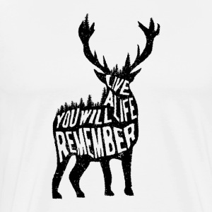 live a life you will remember tee - Men's Premium T-Shirt