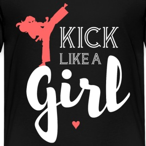 Kick Like A Girl T Shirt - Kids' Premium T-Shirt