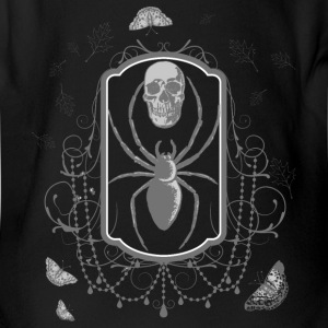 skull_and_moth_spider_gothic_04201602 Baby Bodysuits - Short Sleeve Baby Bodysuit