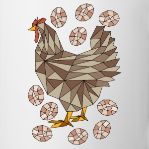 Geometric Chicken And Eggs Mugs & Drinkware - Coffee/Tea Mug