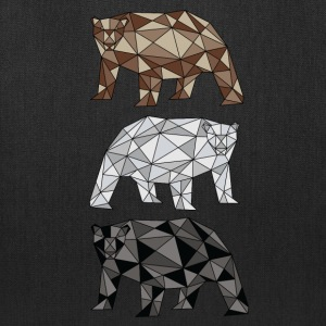 Geometric Bears (grizzly, polar, black) Bags & backpacks - Tote Bag
