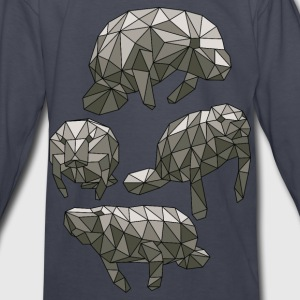 Geometric Manatees Kids' Shirts - Kids' Long Sleeve T-Shirt