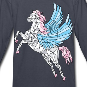 Geometric Pegasus (blue) Kids' Shirts - Kids' Long Sleeve T-Shirt