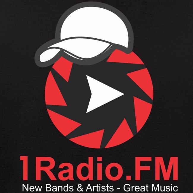 1Radio.FM Black Zip Hoodie