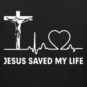 Jesus Saved My Life Cross Christian  Sportswear - Men's Premium Tank