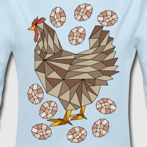 Geometric Chicken And Eggs Baby Bodysuits - Long Sleeve Baby Bodysuit
