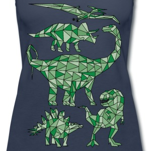 Geometric Dinosaurs Tanks - Women's Premium Tank Top