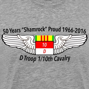 D Troop 50th Anniversary Logo in GRAY - Men's Premium T-Shirt