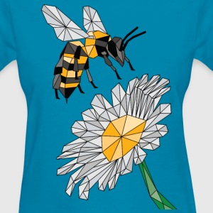 Geometric Bee & Flower Women's T-Shirts - Women's T-Shirt