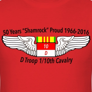 D Troop 50th Anniversary Standard T-Shirt RED - Men's T-Shirt