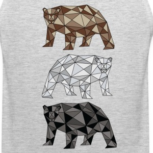 Geometric Bears (grizzly, polar, black) Sportswear - Men's Premium Tank