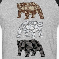 Geometric Bears (grizzly, polar, black) T-Shirts