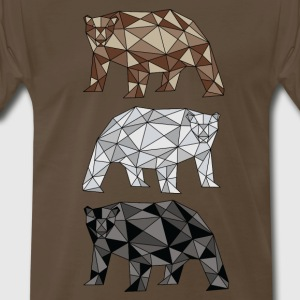 Geometric Bears (grizzly, polar, black) T-Shirts - Men's Premium T-Shirt