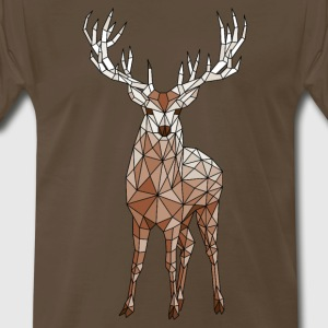 Geometric Deer T-Shirts - Men's Premium T-Shirt