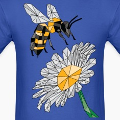 Geometric Bee & Flower T-Shirts