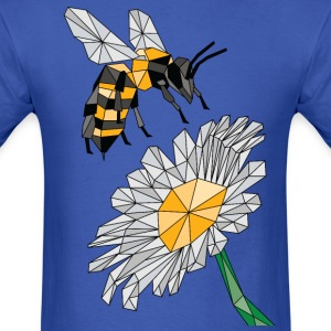 Geometric Bee & Flower T-Shirts - Men's T-Shirt
