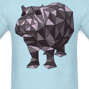 Geometric Hippo T-Shirts - Men's T-Shirt