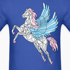 Geometric Pegasus (blue) T-Shirts