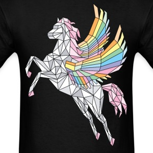 Geometric Pegasus (rainbow)  T-Shirts - Men's T-Shirt