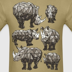 Geometric Rhinos T-Shirts - Men's T-Shirt