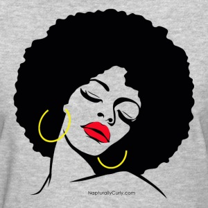 Afro Diva Red Lips - Women's T-Shirt