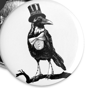 raven dandy crow Buttons - Small Buttons